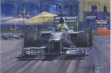 Formula 1 One F1 Motor Racing Car Nico Rosberg Mercedes Birthday Card