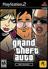 GRAND THEFT AUTO: THE TRILOGY (SONY PLAYSTATION 2, PS2, 2006) COMPLETE