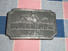 ss2.  Belt Buckle  Bunkhouse Beans Cowboy Bucking Bronco  Note Surface Wear