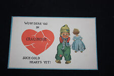 2 Vintage Postcards With Boy and Girl              b