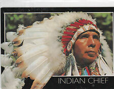 "*POSTCARD-""The Indian Chief"". ... w/Colorful Feather Hat  ...(B362)"