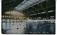 1910 Postcard Interior Salt Water Bathing Pool Venice CA