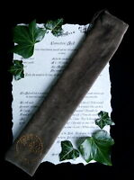 Handmade BROWN VELVET WAND BAG  Wicca pagan Witchcraft Tree of Life