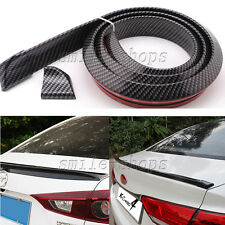 1.5M No Drilling Carbon Fiber Car Rear Tail Fin Empennage Trunk Spoiler Wing Lip