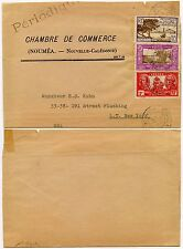 NEW CALEDONIA PRINTED WRAPPER 1947 PICTORIALS MULTI FRANKING to USA