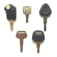 Heavy Equipment  Key Set - 5 Keys CAT John Deere Volvo Komatsu & Hitachi