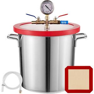 3 Gallon 12L Vacuum Chamber Stainless Steel kit  Epoxies Degassing Urethane