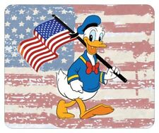 DONALD DUCK MOUSE PAD. FLAG LOGO. DISNEY CARTOONS...FREE SHIPPING