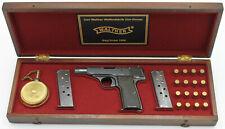 PISTOL GUN PRESENTATION CUSTOM DISPLAY CASE BOX for WALTHER model 4 pp ppk p38