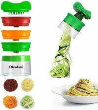 Spiralizzatore manuale per spaghetti di verdura, 3 lame, verdure e...
