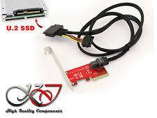 Controleur PCIe pour SSD NVMe U.2 SFF-8639 - Cordon MiniSAS 1m - UEFI