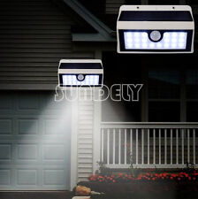 (WHITE SUPER-BRIGHT SOLAR POWERED 20 LED MOTION SENSOR SECURITY WALL DOOR LIGHT)
