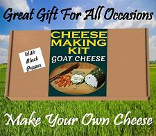 2 x Cheese Making KIT GOAT CHEESE & BLACK PEPPER  Great Gift Present Birthday