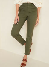 Old Navy Womens Green Mid-Rise Pixie Ankle Chinos Pants Size 12