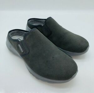 Skechers Women's On The Go Joy Snuggly Water-Repellent Suede Clogs - Charcoal