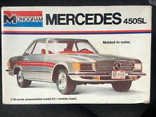 Vintage rare monogram MERCEDES 450SL PLASTIC MODEL KIT