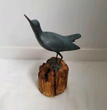 ❀ڿڰۣ❀ BRONZE VERDIGRIS Wading SANDPIPER SEA BIRD Figurine ART SCULPTURE ❀ڿڰۣ❀