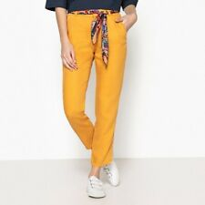 """LAPDIP THEA LADIES STRAIGHT TROUSER MUSTARD SIZE 14 (42) LENGTH 28"""" NEW (ref 388"""