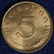5 REICHSPFENNIG 1938 A GERMANIA GERMANY Q.Fdc A.Unc #1529A