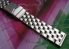 FitBreitling Solid SS Watch Band Bracelet Pilot Style Oblique Link 5-row 20 mm