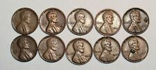Lincoln Wheat Cent Penny - Lot of 10 Coins - Mixed Dates: 1940 - 1957 (lot# 39)
