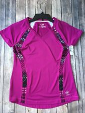 New Fila Top S 4 6 Pink T Shirt Sport Workout Jogging Fitness Athletic Running