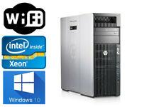 HP Z620 Workstation Xeon 8CORES E5-2689 2.6GHz 16GB DDR3 128GB SSD+1TB K420 wifi