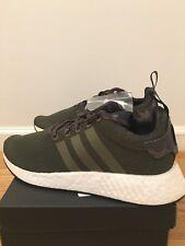 NEW IN BOX Adidas Originals NMD R2 Boost Olive Cargo Green Camo Shoe Men Size 9