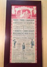 ANTIGUO CARTEL DE TOROS CON ENTRADA ALGECIRAS 1910, BOMBITA MACHAQUITO MORENO DE
