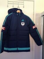 ADIDAS MELBOURNE VICTORY SOCCER HOODIE JACKET MEDIUM  - New @