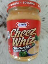 (1 X) Kraft Cheez Whiz Original Cheese Dip, 8 oz Jar