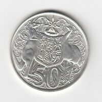 1966 AUSTRALIA ROUND 50 FIFTY CENT COINS - 80% SILVER - VERY NICE VINTAGE COINS