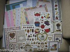 "Huge Lot JM 8sht Stickers 16sht 12"" Paper Hearts Fruit Vegetables Garden Flowers"