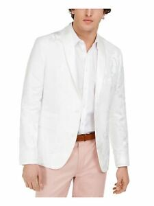 INC Mens White Single Breasted Classic Fit Blazer M