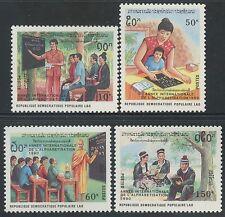 LAOS N°949/952** Alphabétisation, 1990 Literacy year Sc#1005-1008 MNH