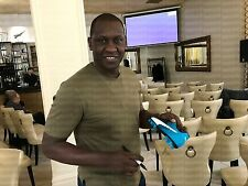 Signed Emile Heskey Football Boot. Autograph.Liverpool.England.Leicester. Villa