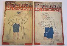 """Rare """"NOS CHAMPIONS"""" Fascicule consacré à Jean ALAVOINE, vers 1925/Jack PLUNKETT"""