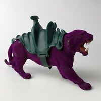 VTG '80s MOTU Masters of the Universe He-Man Purple Panther Figure w/Saddle