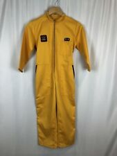 Vtg Childs Racing Suit Race Overalls Boys Size 10 Yellow Zip Up