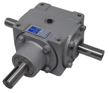 40 HP Right Angle Bevel Gearbox With 3 Keyed Shafts 3:1