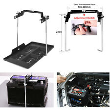 1X Adjustable Car Battery Mount Tray Lead Acid Battery Holder Base Bracket Clamp