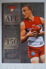Sydney Swans 2012 AFL Stars 100 Games Milestone Football Card Ted Richards
