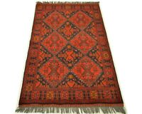 """3'4"""" x 4'11"""" ft. Khal Mohammadi Afghan Hand Knotted Tribal Area Oriental Rug"""