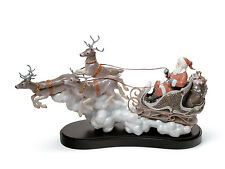 Lladro Limited Edition CHRISTMAS' SANTA'S MIDNIGHT RIDE 01001938 Brand New BOX