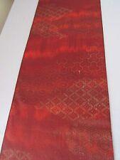"Shaded Honey Golden Komon Vtg Silk Fabric Japan 84""L x 15""W ~ NR 1F696"