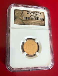2009 BIRTH & CHILDHOOD SMS BRONZE Lincoln Bicentennial Penny 1C NGC MS67RD