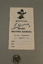 RARE 1938 Tom Mix Secret Writing Manual Ralston Cereal Premium HTF NICE Cowboy