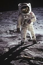 New 5x7 NASA Photo: Astronaut Buzz Aldrin walks on the Moon, 1969 Lunar Landing