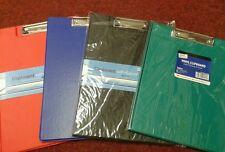 A4 VINYL COVER appunti CARTELLA Clip Bordo Risvolto rosso, nero, blu e verde