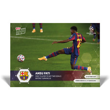 2020 UCL Topps Now UEFA Champions League ANSU FATI Card #3 INTERNATIONAL SHIPPIN